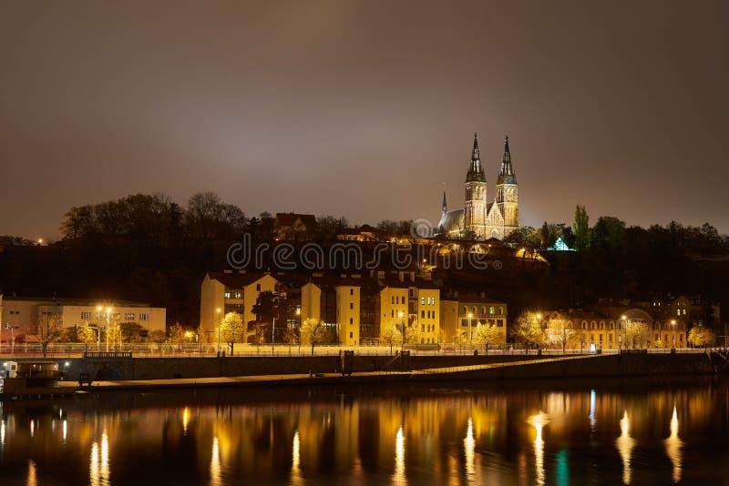 从河的Vysehrad 图库摄影
