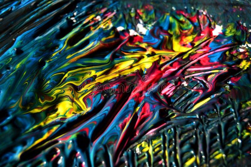 从油画的艺术抽象五颜六色的背景墙纸 免版税图库摄影