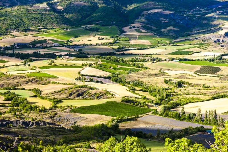 从法国罗讷 — 阿尔卑斯州Ey的Col d& x27;& x27;查看 免版税库存图片
