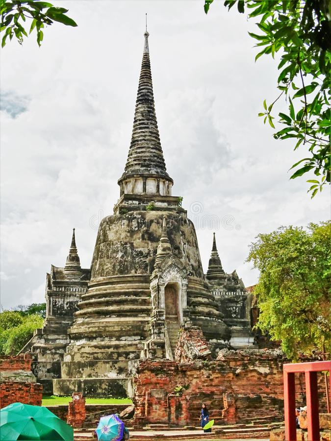 从泰国的Wat Phra斯里Sanphet寺庙 库存照片
