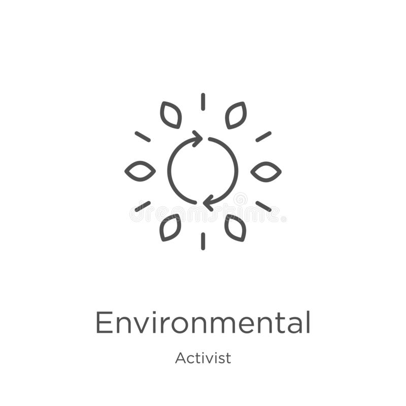 从活动家汇集的环境象传染媒介 稀薄的线环境概述象传染媒介例证 概述,稀薄的线 向量例证