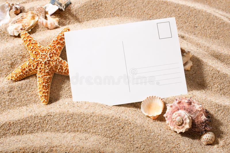 从海滩的明信片 图库摄影