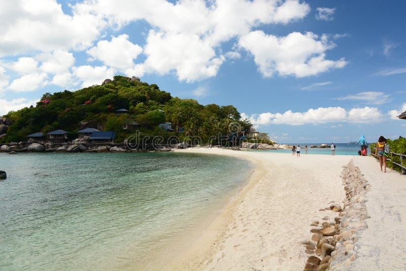 从海滩的视图 酸值nang元 酸值陶 泰国 库存图片