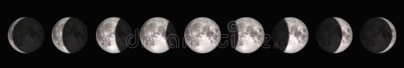从满月的期间到新月 r 库存照片