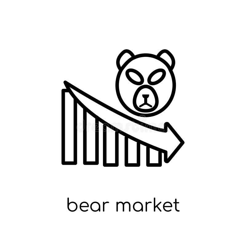 从熊市汇集的熊市象 向量例证