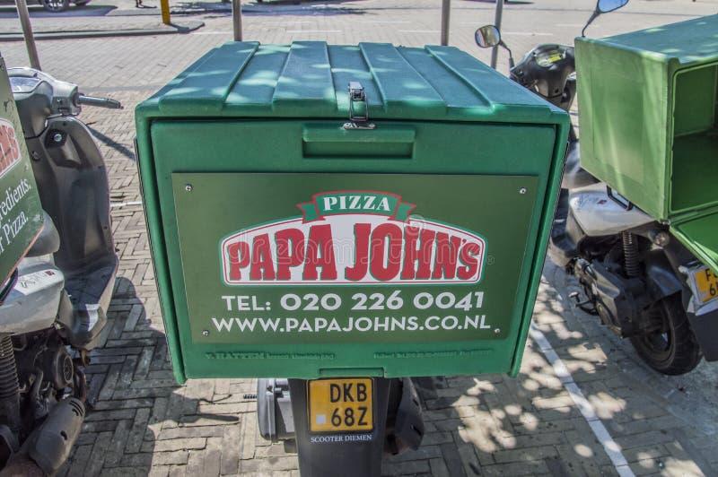 从爸爸约翰` s的滑行车在Diemen荷兰 库存图片