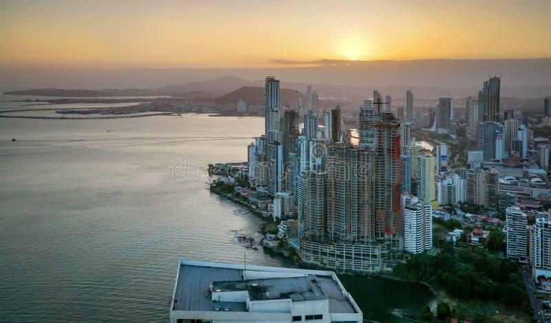 从王牌塔的巴拿马城视图 免版税库存图片