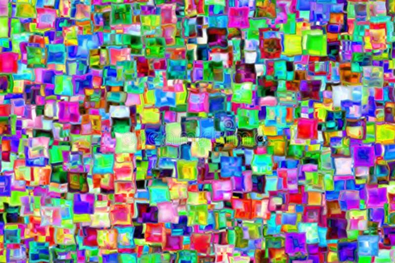 从玻璃正方形的光栅抽象 皇族释放例证