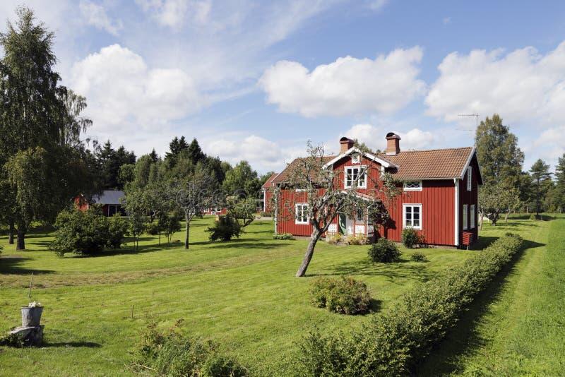 从瑞典的老村庄 库存图片