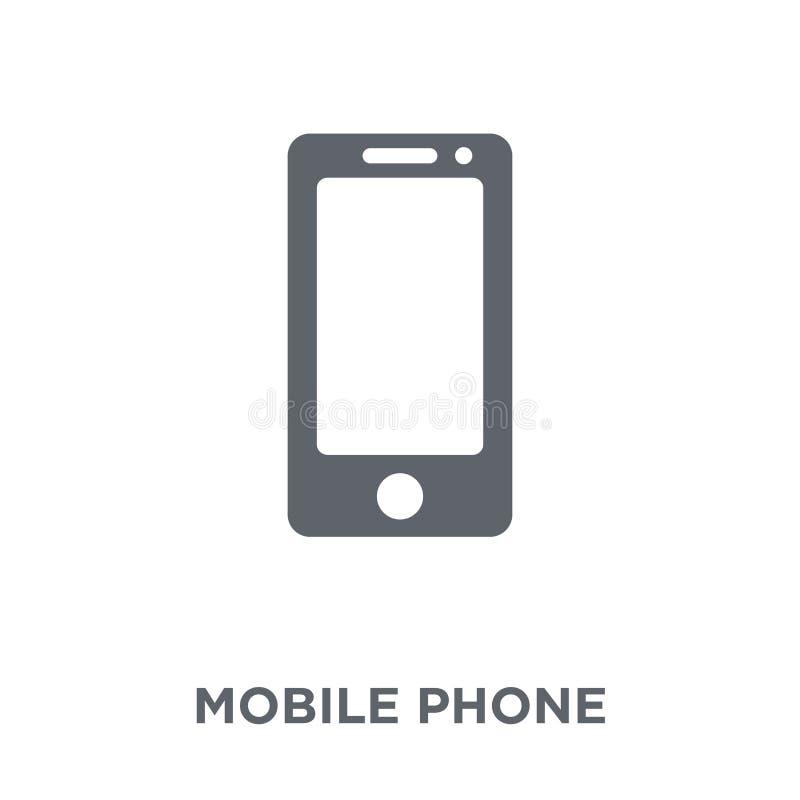 从电子设备汇集的手机象 库存例证