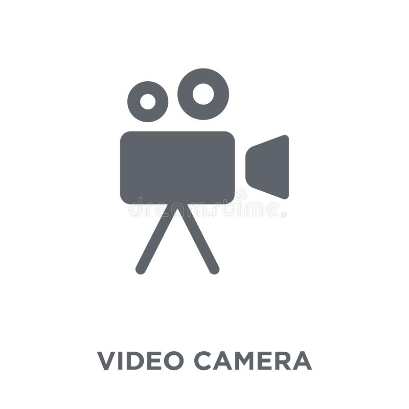 从电子设备汇集的摄像头象 皇族释放例证