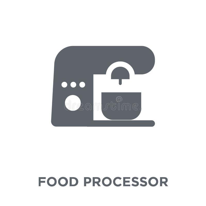 从电子设备汇集的食品加工器象 向量例证