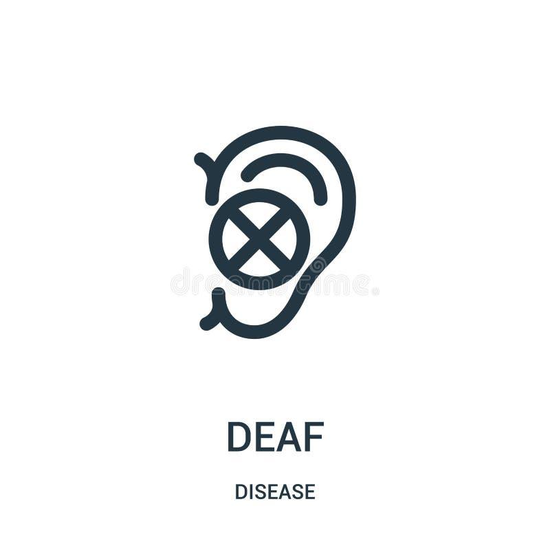 从疾病汇集的聋象传染媒介 稀薄的线聋概述象传染媒介例证 线性标志为在网和机动性的使用 向量例证