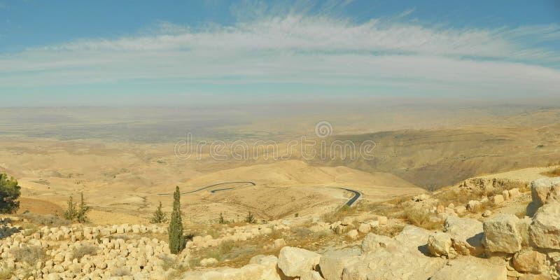 从登上Nebo,约旦的看法 库存照片