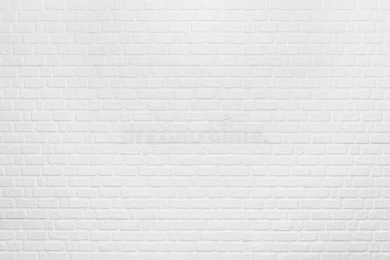 从白色干净的砖样式的抽象背景在墙壁上 Vint 免版税库存图片