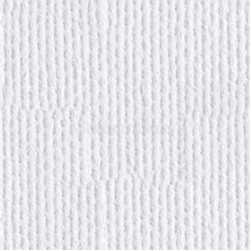 从白色粗糙的帆布的背景 无缝的方形纹理 钛 库存照片