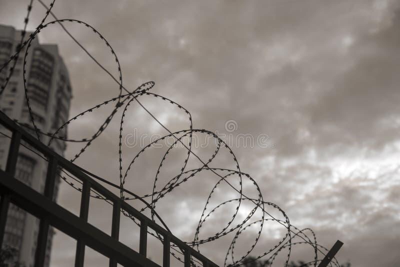 从监狱的看法 免版税库存图片