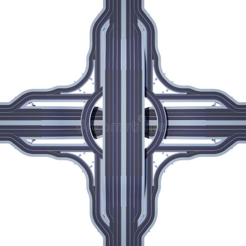 从看法上的多重公路交叉点 库存例证