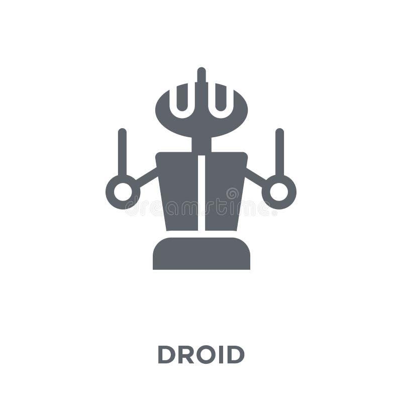 从科学汇集的Droid象 向量例证