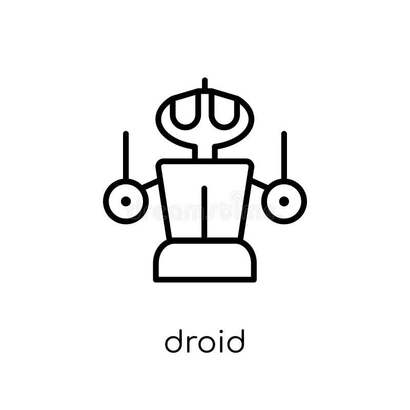 从科学汇集的Droid象 皇族释放例证