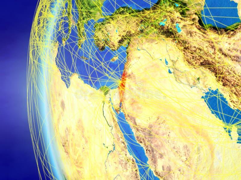 从空间的以色列与网络 皇族释放例证