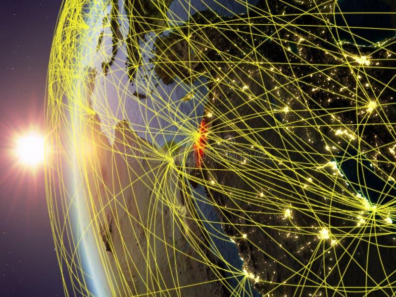 从空间的以色列与网络 向量例证