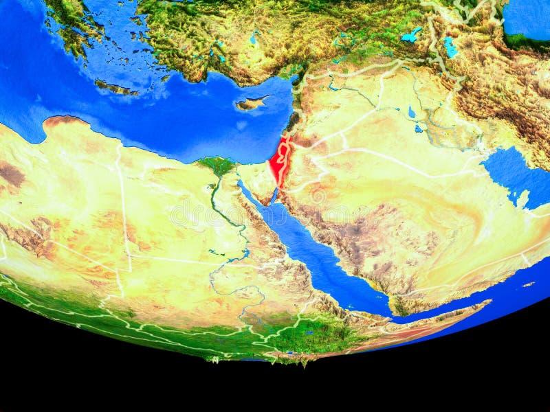 从空间的以色列地球上 向量例证