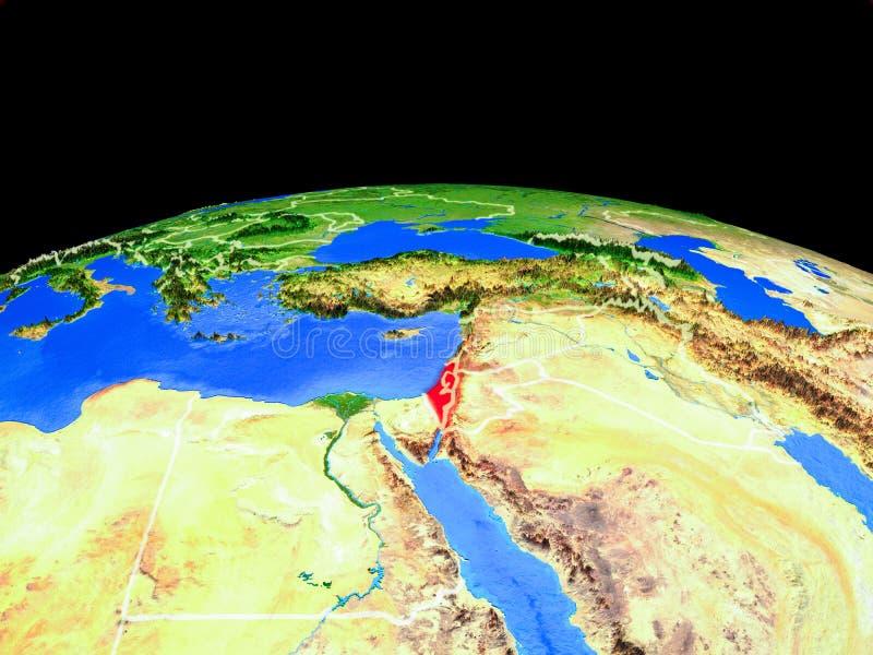 从空间的以色列地球上 皇族释放例证