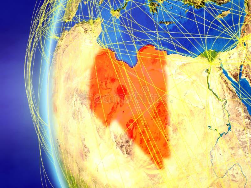 从空间的利比亚与网络 库存例证