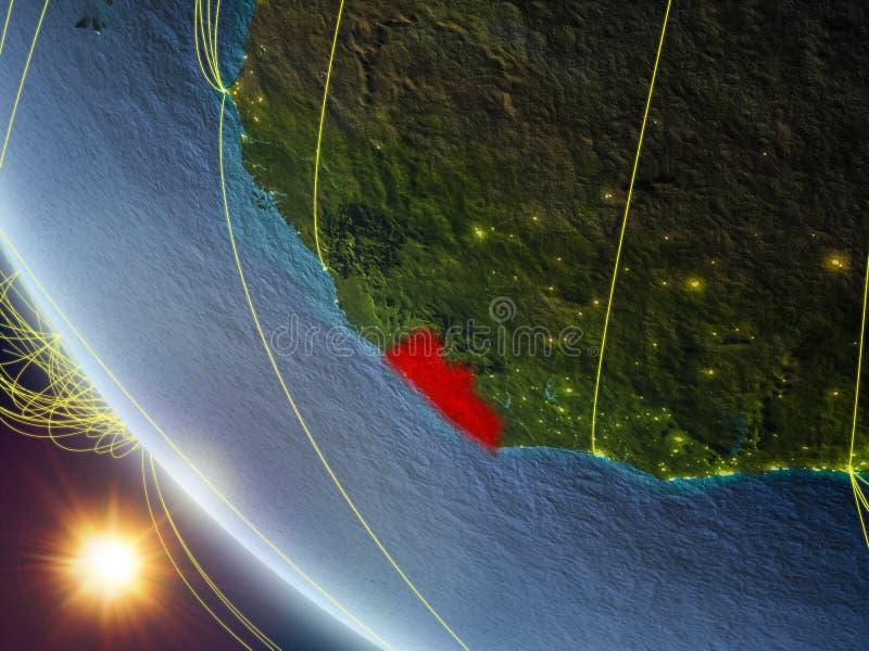 从空间的利比里亚与网络 向量例证