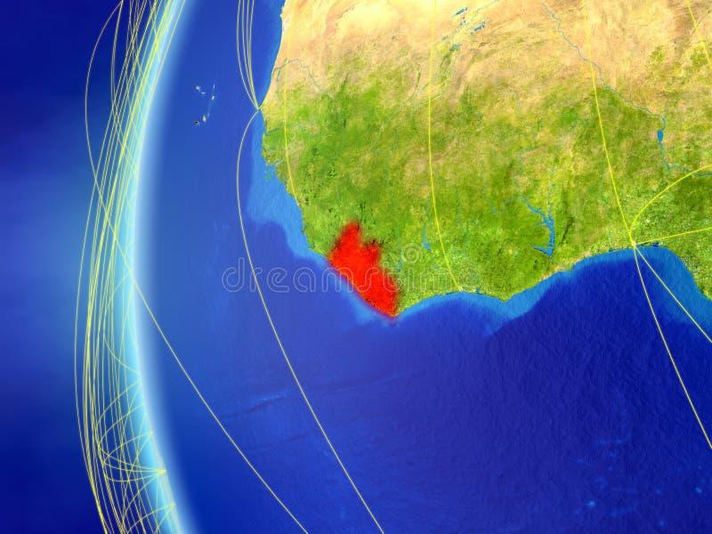 从空间的利比里亚与网络 皇族释放例证
