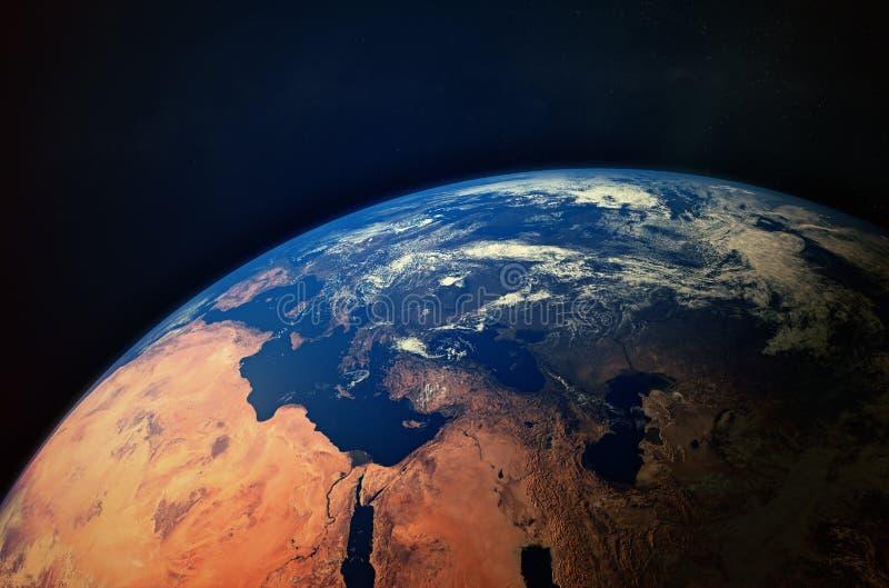 从空间的地球 向量例证