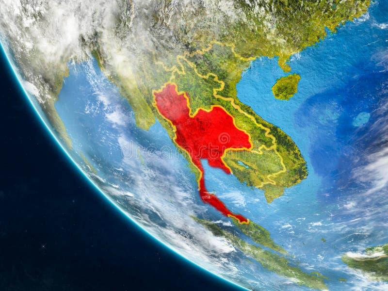 从空间的泰国地球上 向量例证