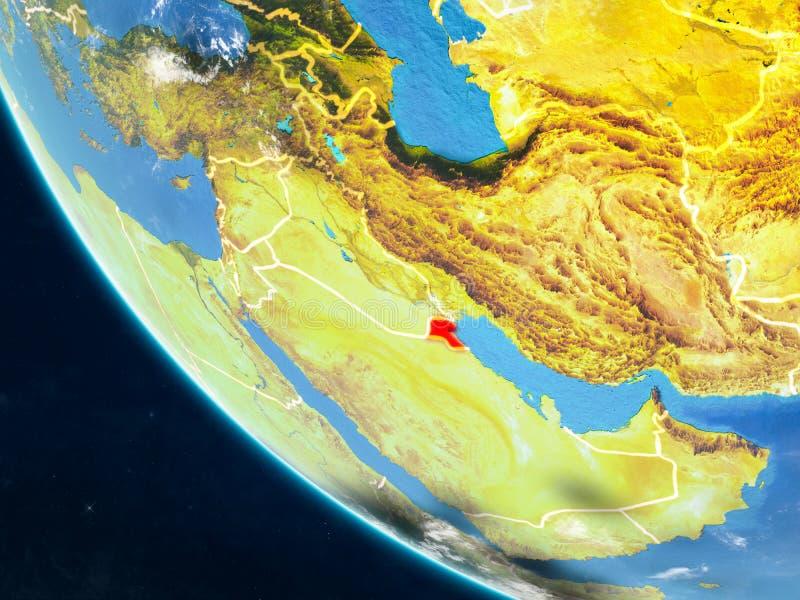从空间的科威特地球上 皇族释放例证