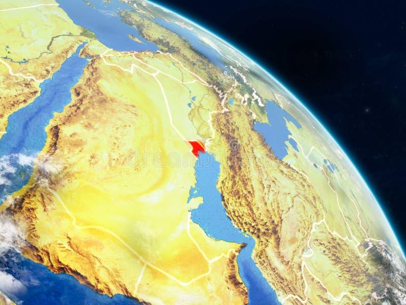 从空间的科威特 向量例证