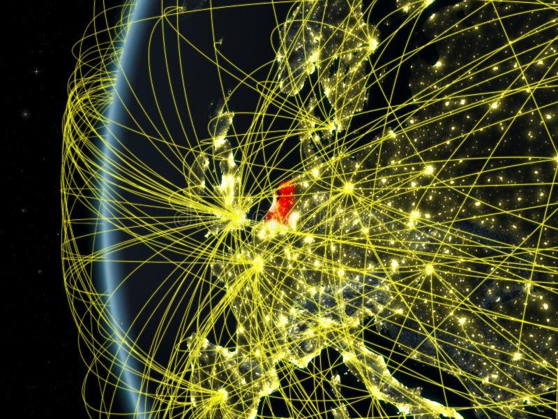 从空间的荷兰与网络 皇族释放例证