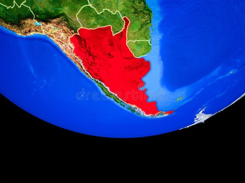从空间的阿根廷地球上 向量例证