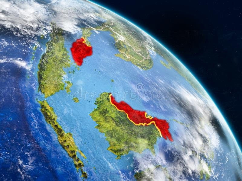 从空间的马来西亚 皇族释放例证