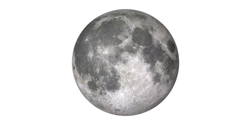 从空间轨道地球看见的满月月球 免版税库存照片
