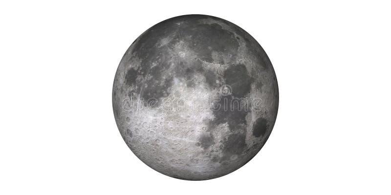 从空间轨道地球看见的满月月球 图库摄影