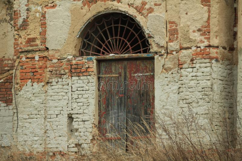 从第1个共和国的老农场在捷克 免版税图库摄影