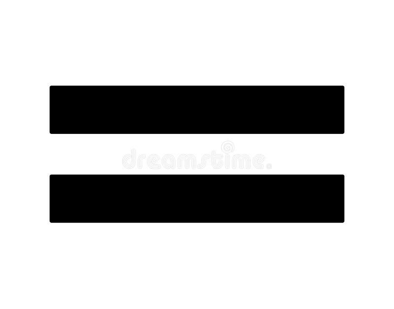 从算术的简单,黑平等标志 库存例证