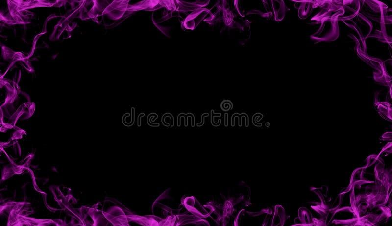 从紫色烟的边界 影片、文本或者空间的有薄雾的作用 免版税图库摄影