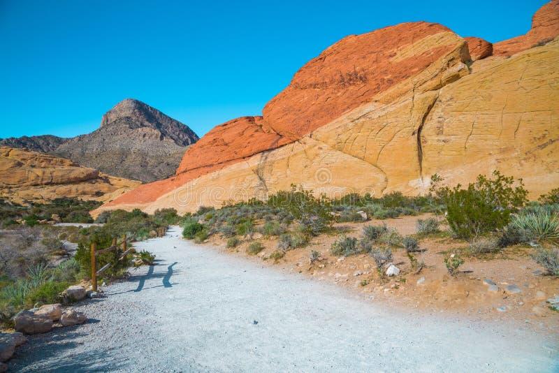 从红色岩石峡谷,内华达的看法 库存图片