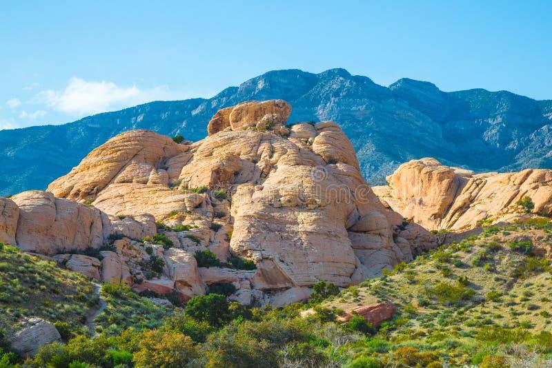 从红色岩石峡谷,内华达的看法 免版税库存照片