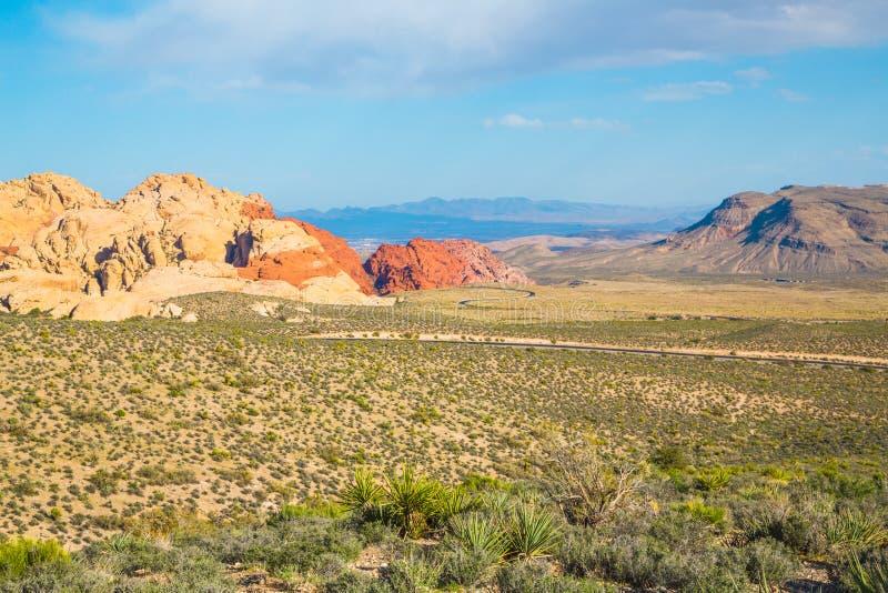 从红色岩石峡谷,内华达的看法 库存照片