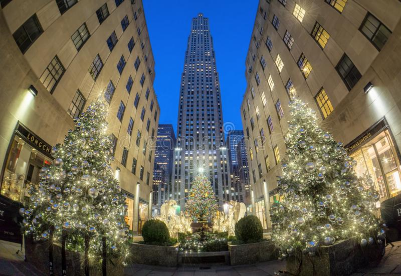 从纽约的圣诞快乐 免版税库存照片