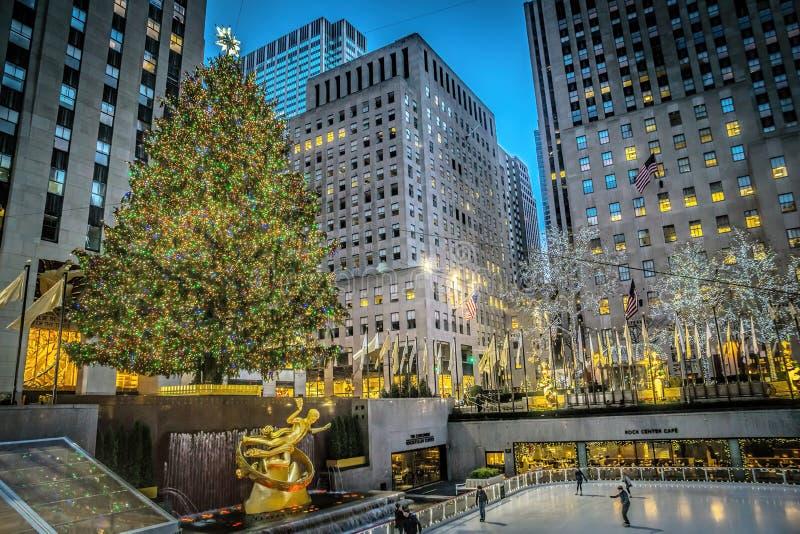 从纽约的圣诞快乐 库存图片