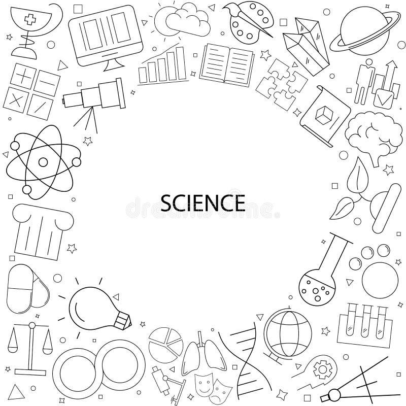 从线象的科学背景 库存例证
