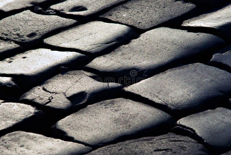 从线路的纹理在石铺石 免版税库存照片
